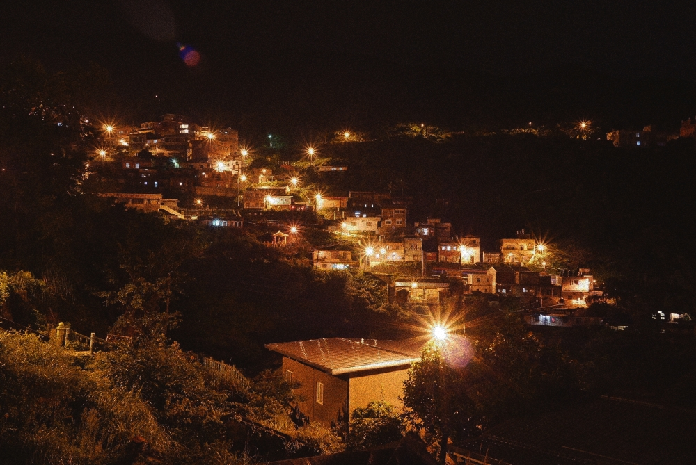 Night-time in Jiufen, Taiwan.