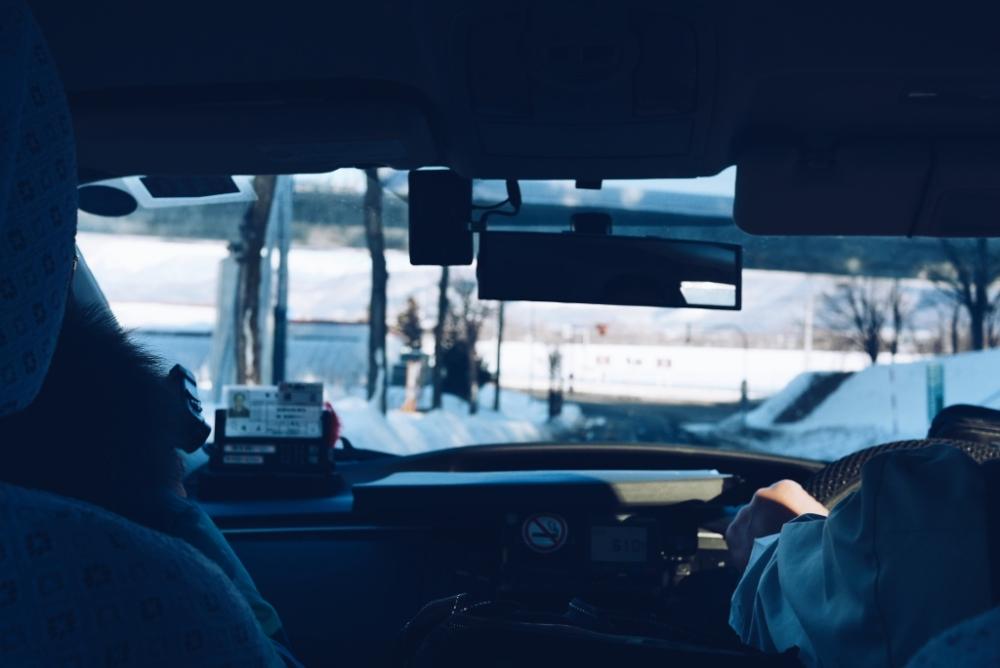 On the road in Hokkaido