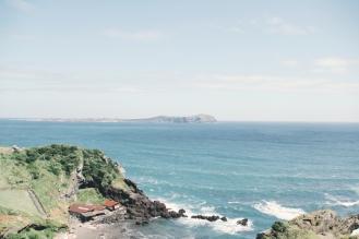 View of Udo Island (우도) from Seongsan Ilchulbong Peak (성산일출봉), Jeju