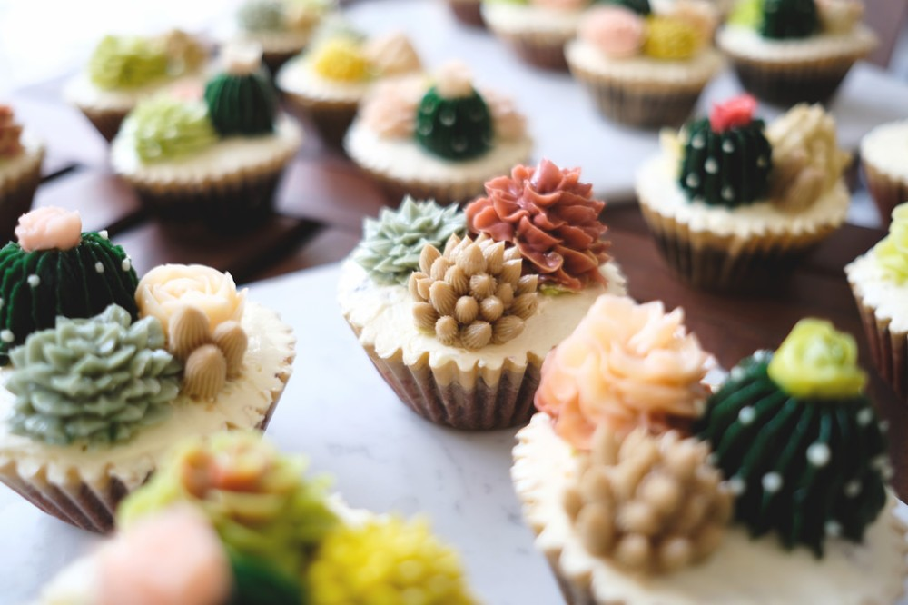 Food Photographer | Yuna Cactus Buttercream Cupcakes