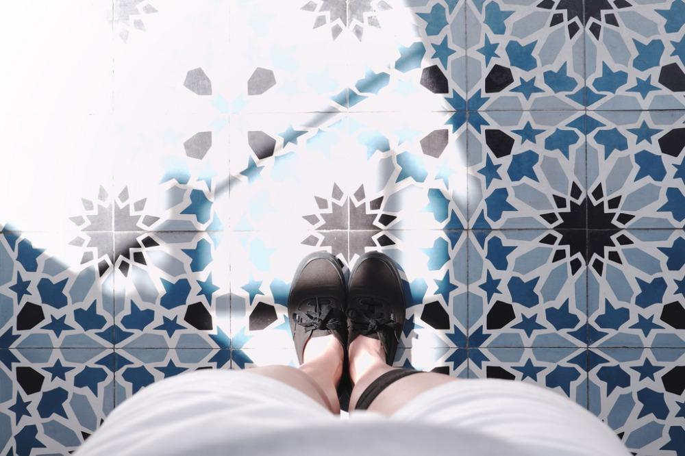 Travel Photographer   Peranakan tiles in Georgetown Penang Malaysia