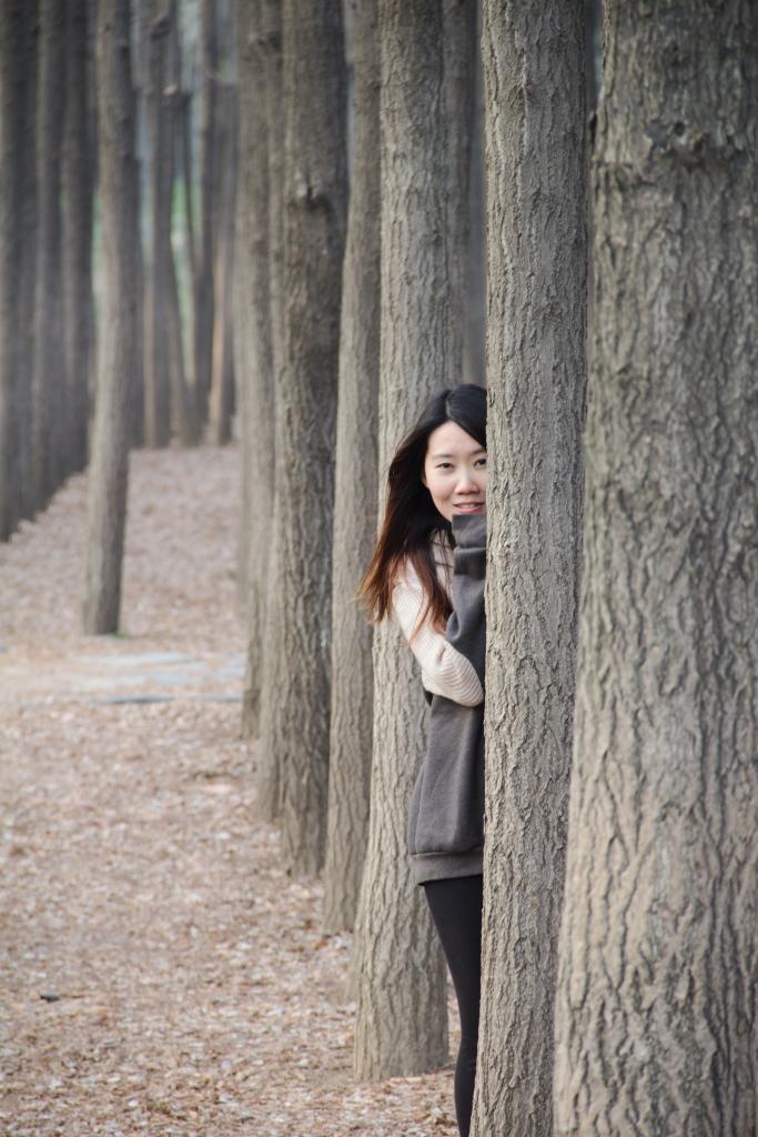 Travel Portrait Photographer | Spring Seoul Forest South Korea