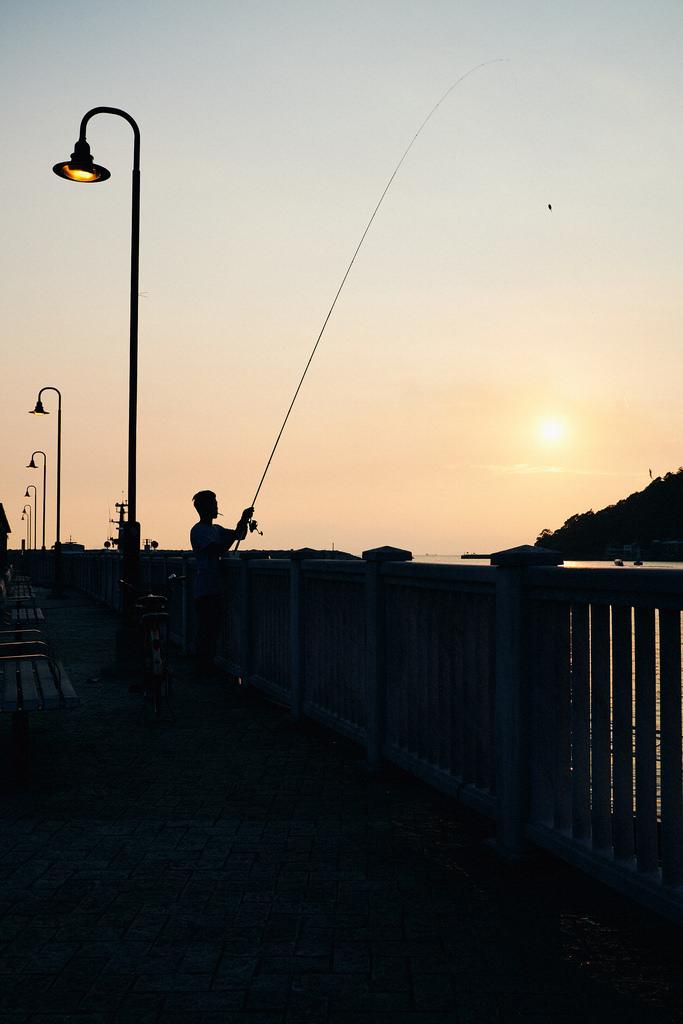 Travel Photographer | Sunset at Tai O Fishing Village Stilt Houses Hong Kong